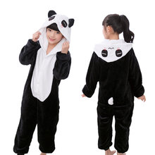 Фланелевая Пижама для мальчиков и девочек с рисунком панды единорога