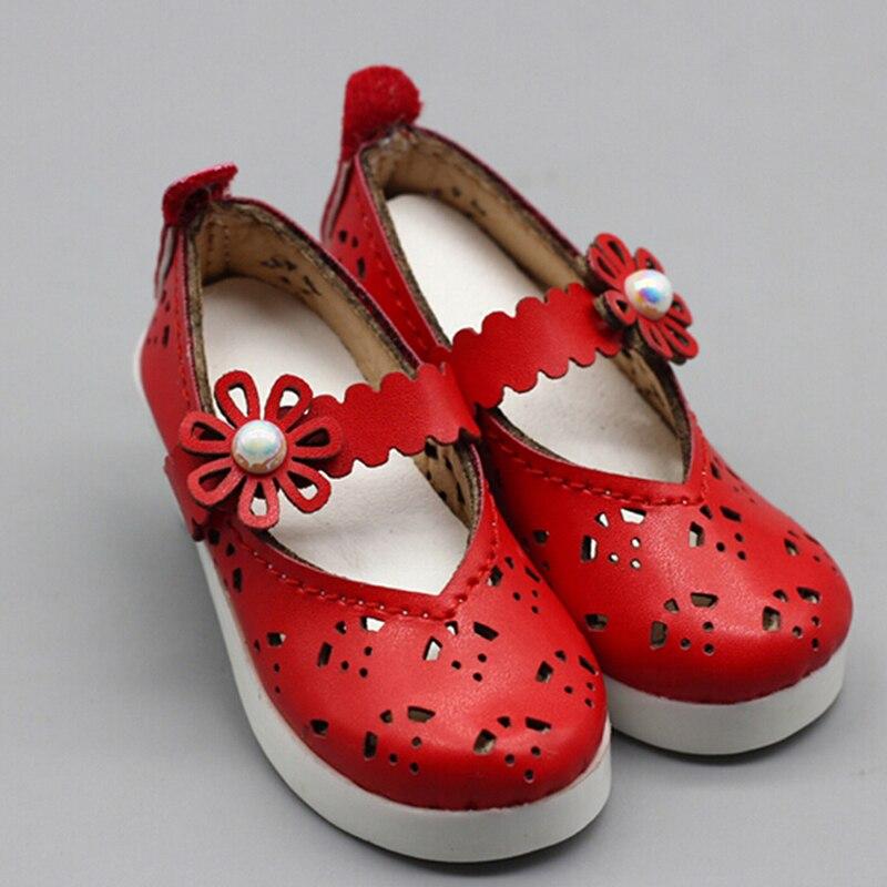 Nouvelles chaussures en cuir rouge adaptées pour BJD SD DD DOD poupées enfants meilleur cadeau d'anniversaire