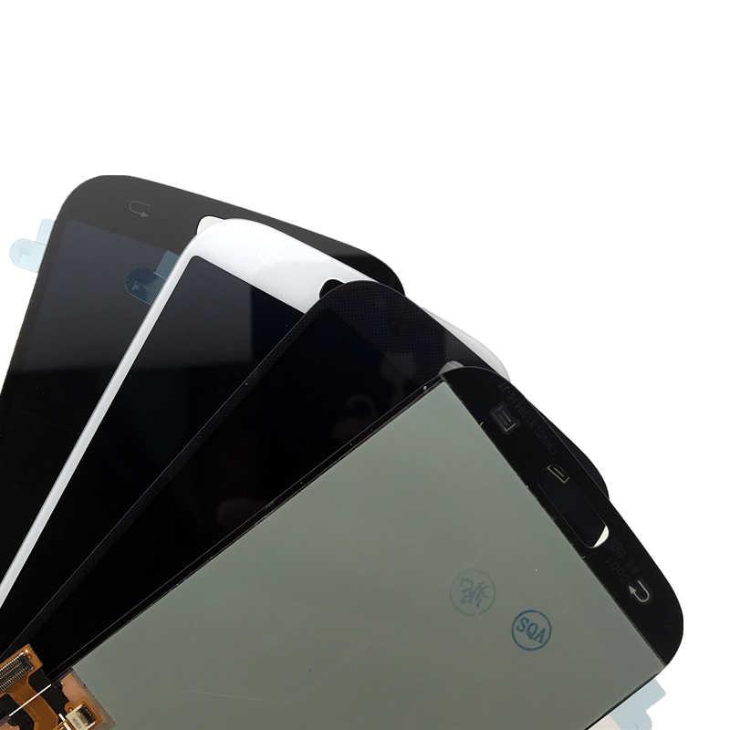 S4 AMOLED LCD قطع غيار سامسونج غالاكسي S4 i9500 i9505 i9506 i9502 i9515 i337 شاشة الكريستال السائل مجموعة المحولات الرقمية لشاشة تعمل بلمس
