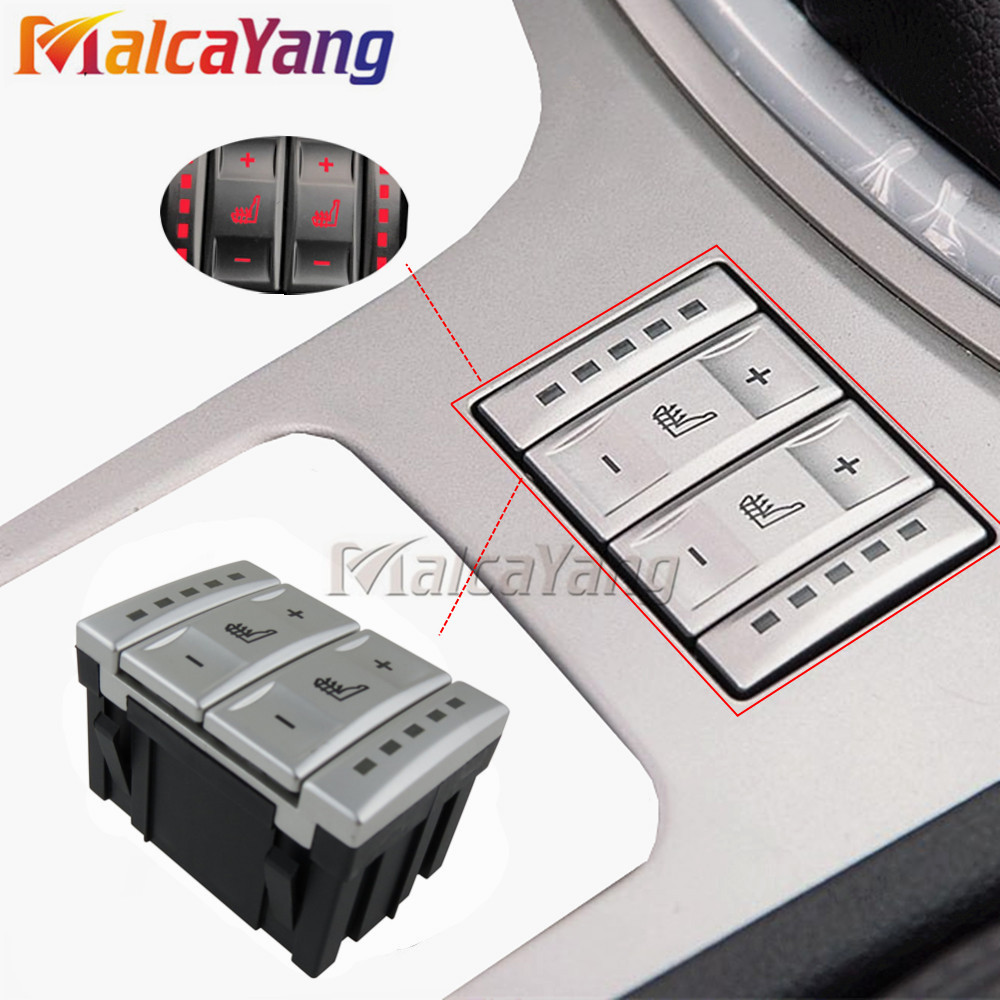 New Silver Seat Heating Button Control Switch OEM 6M2T-19K314-AC 6M2T19K314AC For Ford Mondeo MK4