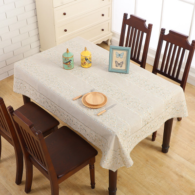 European style tablecloth, lace fabric coffee table cloth, rectangular home tablecloth
