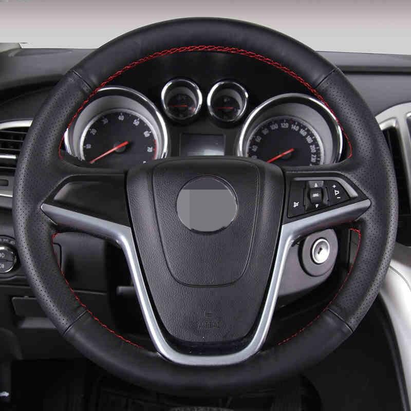 Zwart kunstleder auto stuurhoes voor Buick Excelle XT GT Encore Opel - Auto-interieur accessoires - Foto 2