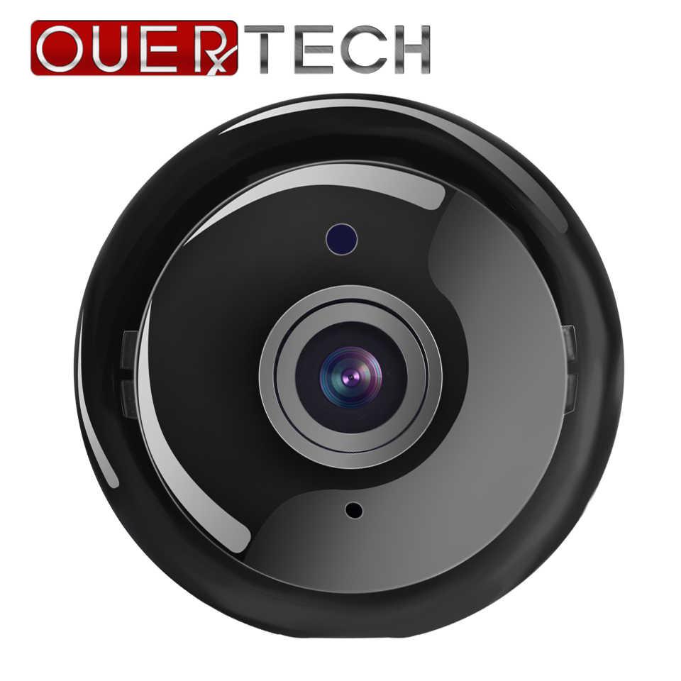 OUERTECH 180 градусов мини панорамный Wi-Fi 720P день и ночь Беспроводная Смарт IP мини камера Поддержка TF слот для карт