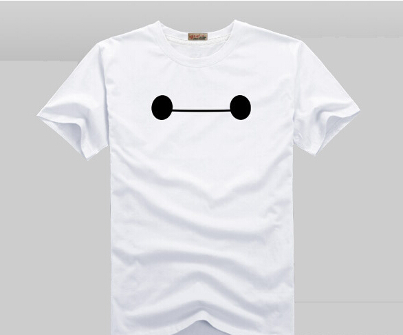 100% Cotton Big Hero 6 Comic Super Hero T-Shirt t shirt SHIRT Movie Men Cosplay T Shirts