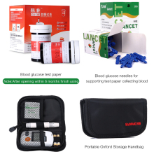 Blood Glucose Meter & Test Strips & Lancets Needles Blood Sugar Detection Monitor Glucometer for Diabetic