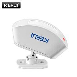 KERUI P817 Sem Fio Cortina Detector Infravermelho Sensor Detector PIR Sistema de Alarme Detector de terno para todas as de alarme KERUI