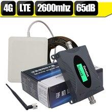 Lintratek ЖК-дисплей 4 г LTE ретранслятор LTE 2600 группа 7 Мобильный телефон усилитель сигнала мобильного телефона Cellular антенный усилитель комплект 65dB