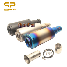 51MM Motorcycle Exhaust Pipe Stainlesss Steel Rubber Escape Moto Muffler Clamp DB Killer For Akrapovic Suzuki Yamaha YZF R1 R6 цена и фото