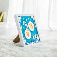 1 Set Newborn Foot Print Handprint Ink Pad Hand Print Memorial Commemorative Gifts Photo Frame DIY Baby Footprint