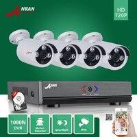 ANRAN Surveillance Plug Paly 4CH 1080N H 264 AHD HDMI DVR 1800TVL 720P Array IR CCTV