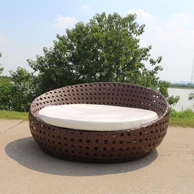 Garten Rattan Daybed Gartenmöbel Sofa liege Set Bett Terrasse