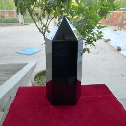 3725 г Большой Природный Черный обсидиановый кристалл драгоценный камень точечное Исцеление