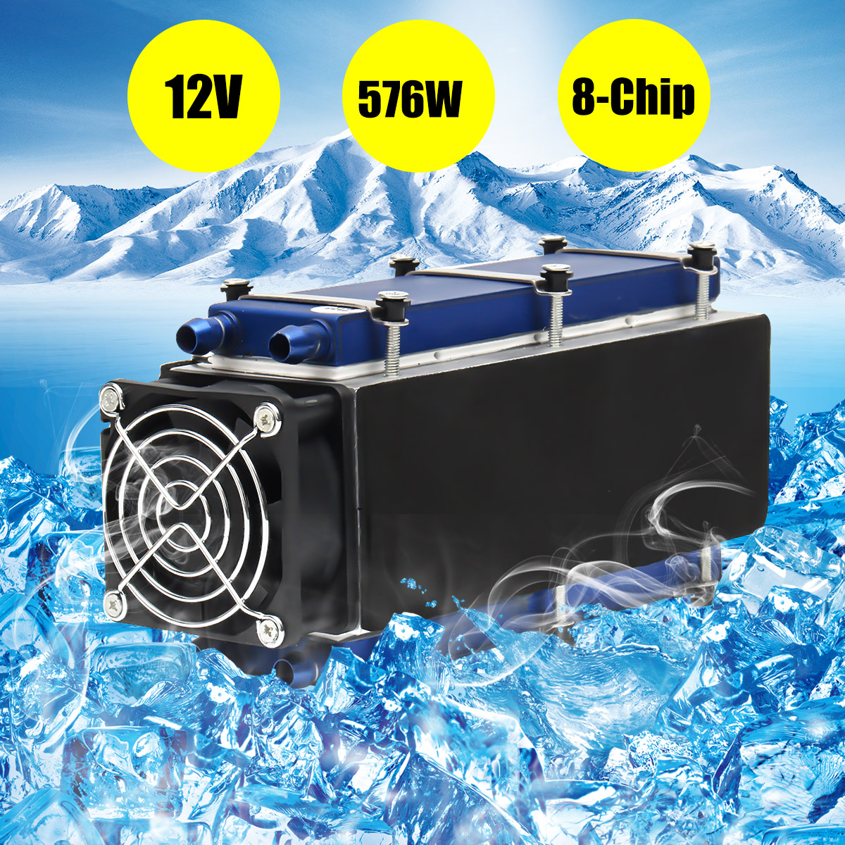 12V Thermoelectric Peltier Refrigeration Cooling System Kit Cooler for DIY TEC-12706 Mini Air Conditioner Integrated Circuits 5 pcs qdzh35g r134a 12v cooling compressor for marine refrigeration unit