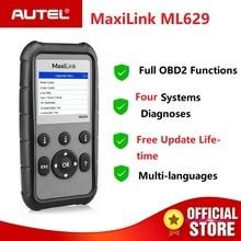 Autel MaxiLink ML629 może OBD2 skaner ABS poduszka powietrzna SRS Auto diagnostyczne skaner OBDII EOBD czytnik kodów PK AutoLink AL619 AL319