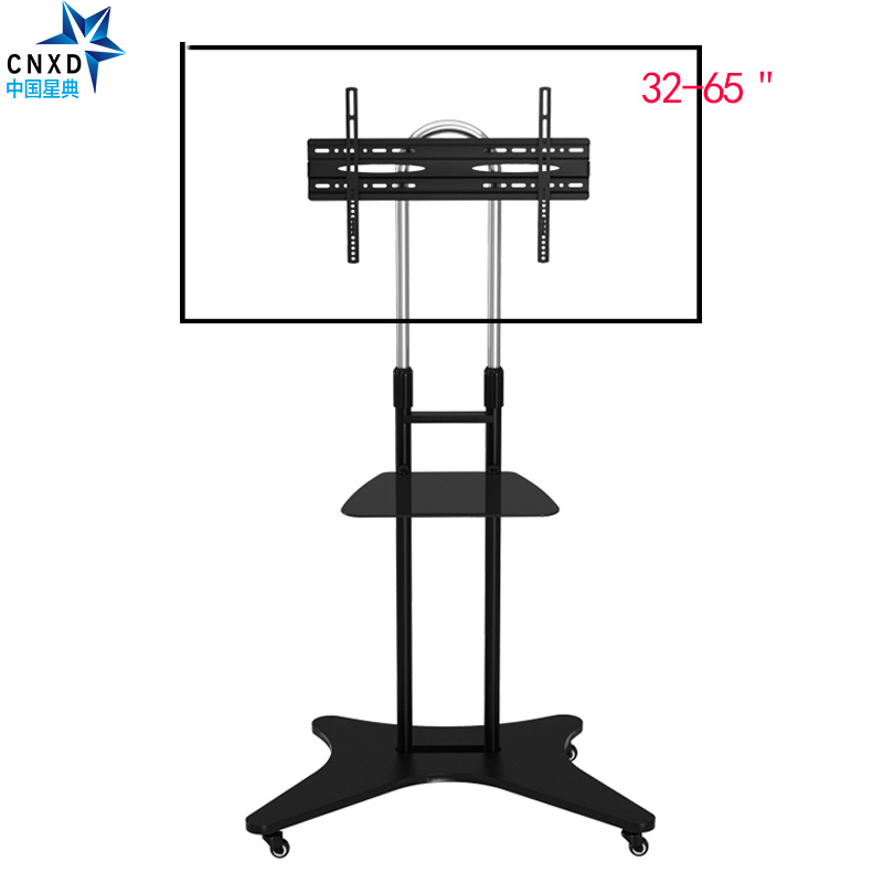 Heavy Duty TV Cart For LCD LED Plasma TV Height Adjustable Stand Mount With Wheels And Shelf For TV 32