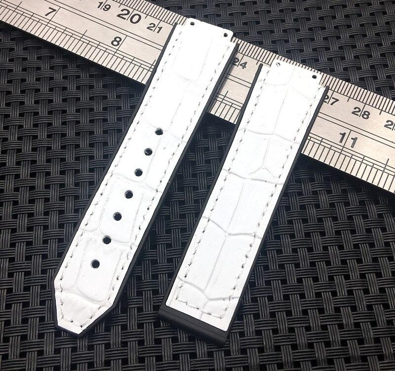 ecaaebc09d9 Warchband para Hublot mulheres do sexo feminino De Couro branco natureza silicone  relógio pulseira de borracha acessórios 15 21mm banda correia de pulso ...