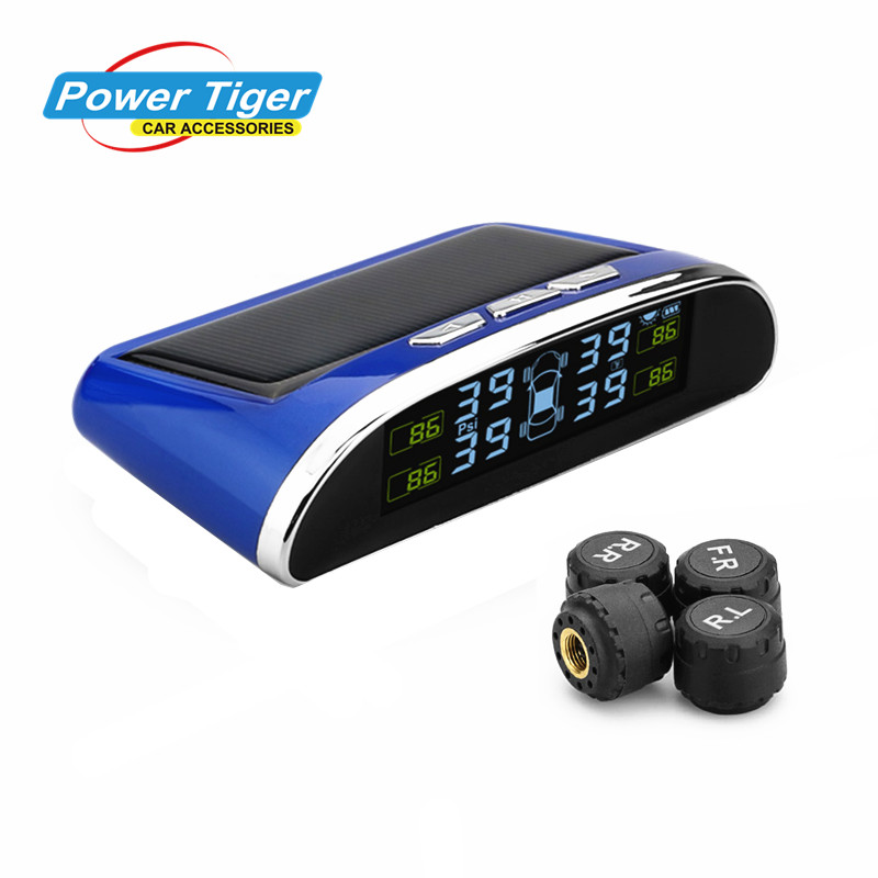 TPMS Tire Pressure Monitor System Car Alarm System Diagnostic Tool Wireless Solar-powered Color LCD Display tpms tire pressure monitor system car alarm system diagnostic tool wireless solar powered color lcd display
