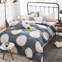 TUTUBIRD kids cartoon beddengoed sets ronde cirkel bed set grijs en roze leuke dekbedovertrek 100% katoen beddengoed lakens