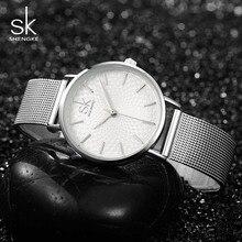 Shengke Mujeres de Lujo Famoso Reloj de Pulsera de Diseño de Moda de Oro Dial Relojes Ladies Relojes de Las Mujeres Relogio Femininos SK Nueva