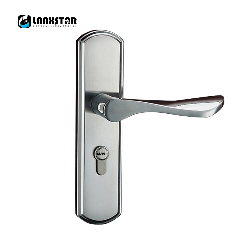 Factory Supply Direct Stainless Steel Handle Lock Specifications Modern Simple Decoration Locks Mute Lockcore Door-lock