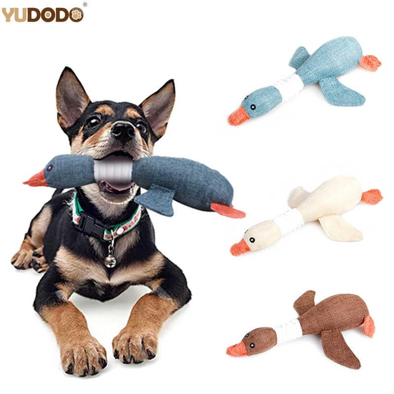 Del fumetto Oca Selvatica Giocattoli Del Cane Peluche Resistenza A Mordere il Suono Stridulo Giocattolo Dell'animale Domestico Per La Pulizia Dei Denti Puppy Cani Chew Forniture