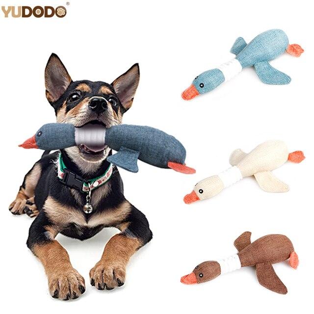 Ganso Selvagem dos desenhos animados Brinquedos De Pelúcia Do Cão Resistência À Mordida Chew Squeaky Som Brinquedo Para A Limpeza Dos Dentes do animal de Estimação do Filhote de Cachorro Cães Suprimentos