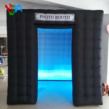 One Door 2.5m Cube Inflatable Photo Booth  Backdrop with LED Strips Lights bottom  For Party ,Wedding  Promotion Events - DISCOUNT ITEM  0% OFF All Category