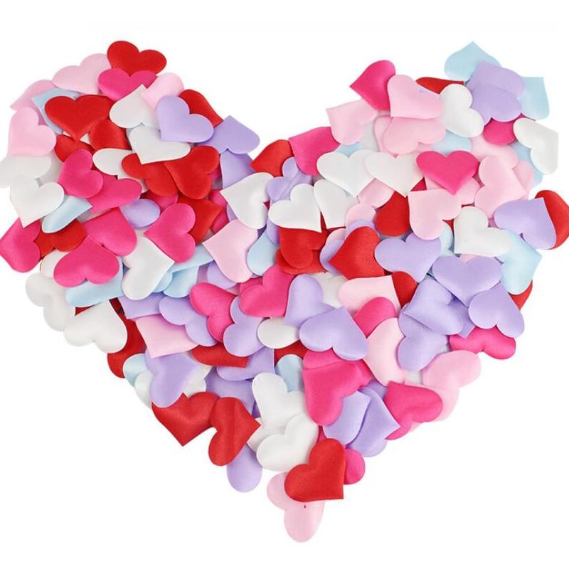 100pcs Romantic Sponge Heart Throwing Confetti For Table Bed Petals Valentine Wedding Decoration Party Supplies