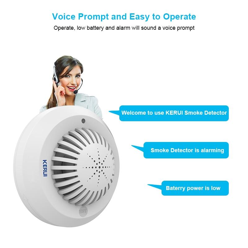 KERUI SD03 glasno osjetljiv glas poziva na otkrivanje dima / senzor - Sigurnost i zaštita - Foto 4