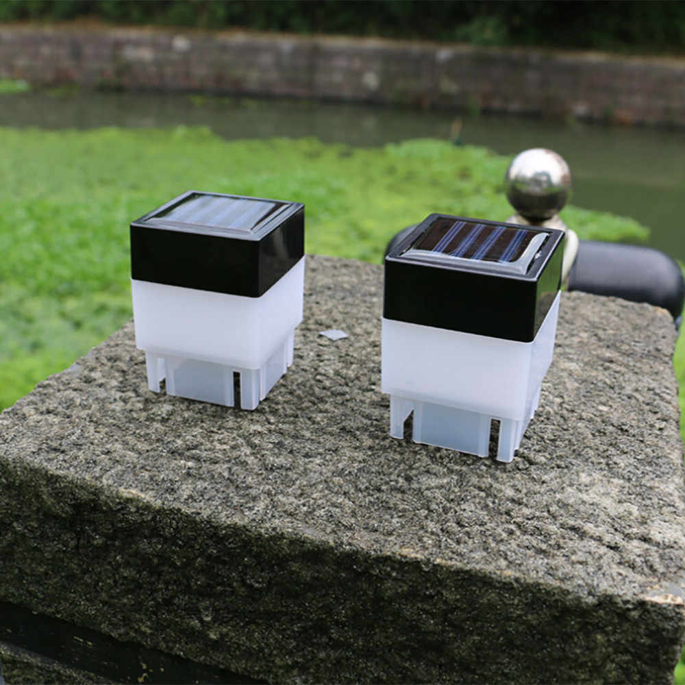Новый высококачественный Солнечный уличный светодиодный квадратный светильник для забора сада ландшафтного столба лампа Прямая доставка
