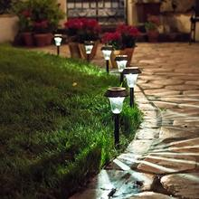 HUSUYUHUSIS Landscape Lighting Solar Metal Ground Stake Light Set of 6pcs Bronze Lens Extra Bright LED Lawn