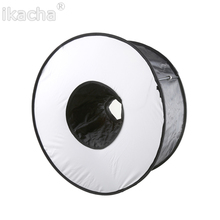 Portable 45CM Round Flash Diffuser Universal Folded Ring Softbox for Macro Portrait Photography