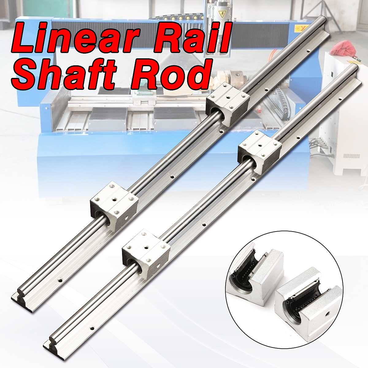New SBR12-600mm Fully Supported 12MM Linear Bearing Rails Shaft Rod+2x SBR12UU Block Linear GuidesNew SBR12-600mm Fully Supported 12MM Linear Bearing Rails Shaft Rod+2x SBR12UU Block Linear Guides