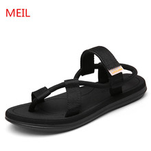 Sandals Men Summer Men Shoes Beach sandalias hombre Brand Men Casual Shoes Flip Flops Men Slippers chaussures hommes цены онлайн