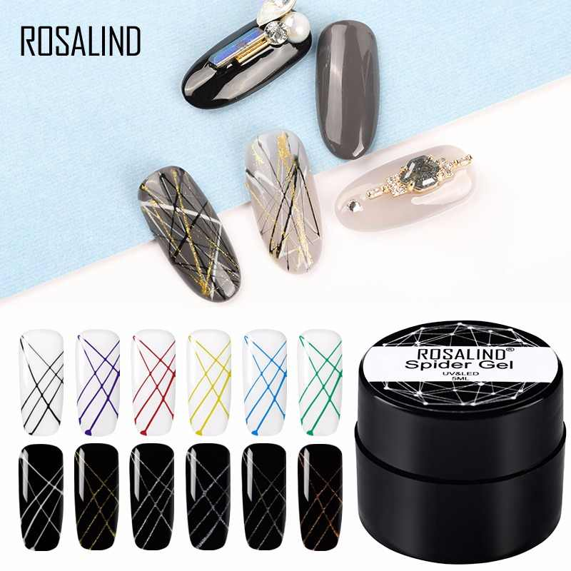 ROSALIND 5ml Spider Gel nail polish DIY Nail Design Point To Line Drawing Painting Decoration Pulling Silk Spider Gel Lacquer