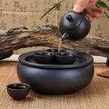 Bandeja de chá Yixing jogo de chá bule xícara de chá e pires conjunto esmalte china pacote de viagem de Carro portátil bule de cerâmica