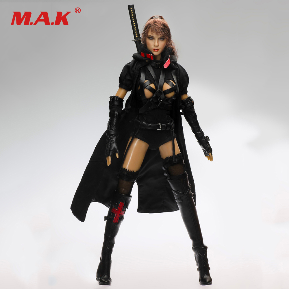 1/6 Two Heads Dark Mourner Female Action Figure With Sword Accessories Collectible Box_Set 1 6 soldier action figure the dark zone agent renegad with weapon model accessories full set collections