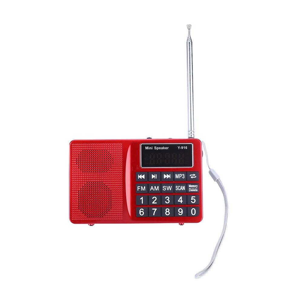 Digital FM AM SW LCD Display Radio Speaker Music MP3 Player with AUX USB