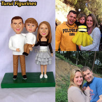 Turui Figurines custom Party DIY Decorations family souvenirs gift present miniature child kid's face statue from photo favor