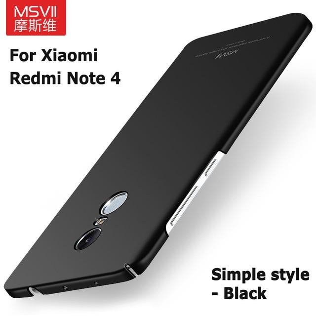 36cf64dbd16 100% Original MSVII luxury Case for Xiaomi redmi note 4 prime hard PC scrub  Back