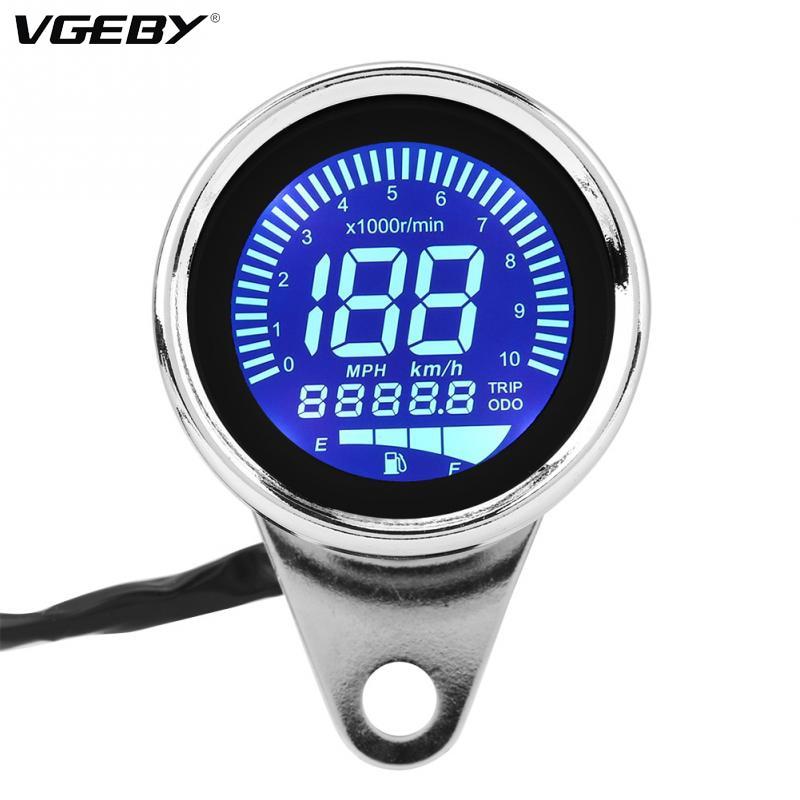 New Universal Motorcycle Digital Led Lcd Speedometer