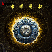2017 New Arrival Buddha Eye Lotus Hand Spinner Cool Fidget Toy For Autism And ADHD Tri