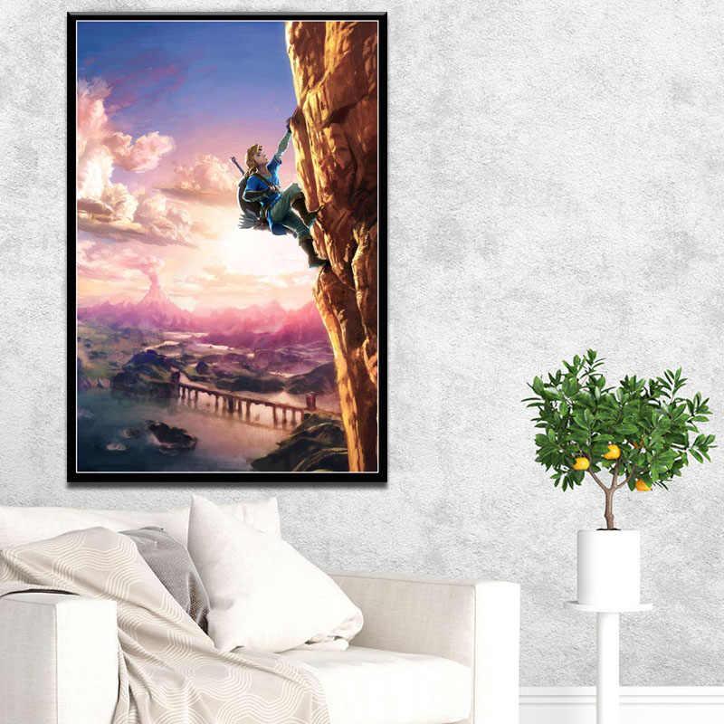 絵画キャンバス家の装飾北欧モダンスタイルhdの伝説ビデオゲームポスター壁ベッドサイドの背景に