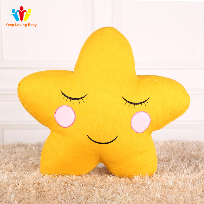Baby Pillow Baby Boys Girls Room Decoration Kids Bedding sleep toy pillow Plush Toys Infant Children Decorate Christmas Gift