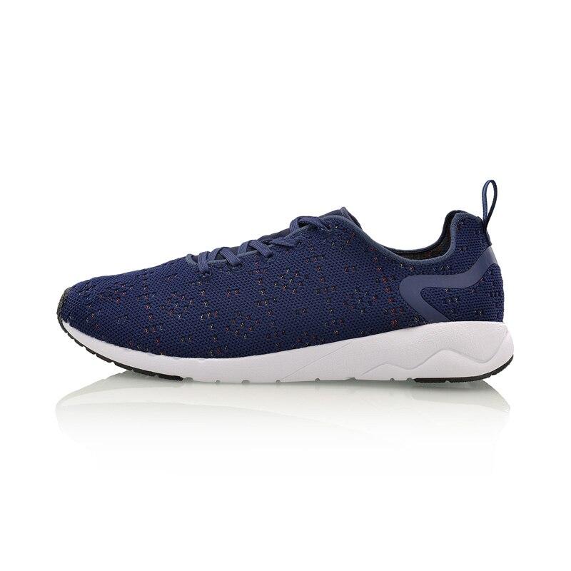 Li-ning hommes chaussures de Sport de loisirs chiné Mono fil portable anti-dérapant doublure chaussures de Sport baskets respirantes AGCM055 YXB076 - 5