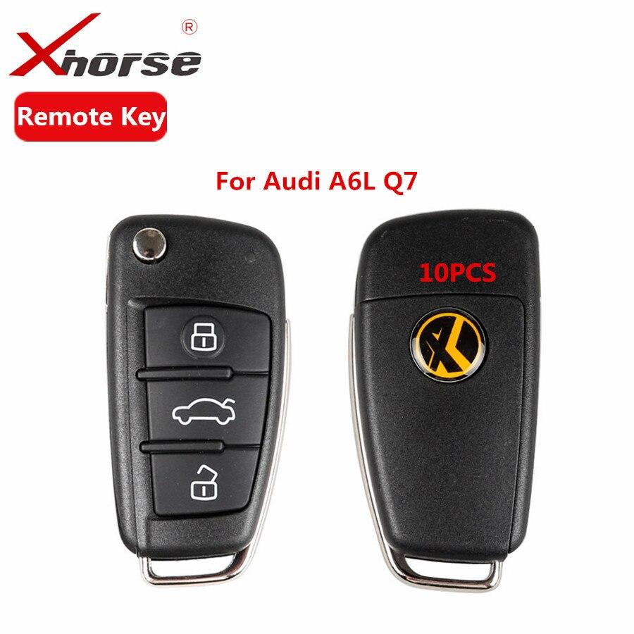Цена за Xhorse VVDI2 Универсальный пульт ключ 3 кнопки для Audi A6L Q7 Тип удаленный ключевой программа 10 шт./лот Freee Доставка