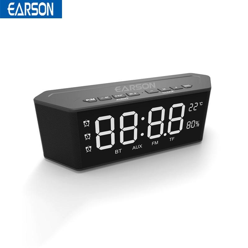 EARSON ER910 Smart bluetooth Speaker Home Alarm Clock FM Radio Wireless Speaker with Mic Handfree MP3