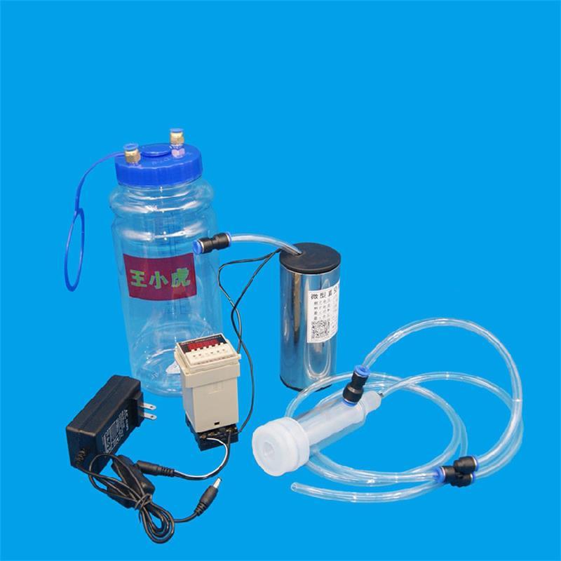 2000ML Portable Mini Household Electric Milking Machine Milker Cow Sheep Goat Milk Manual Pump Electric Impuls