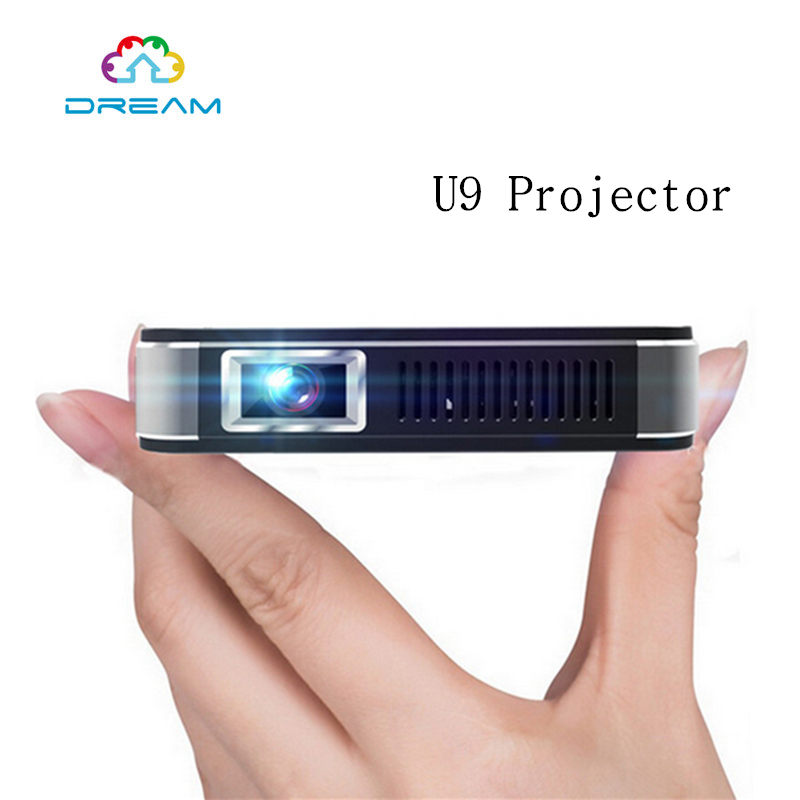 HD1080p video PicturesMini Portable In-built Speaker U9 DLP projector for Business Personal Entertainment and Education Training