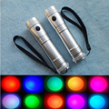 10 color Flashlight with LED Colorful automatic color burst flash flashlight Portable Will change color flashlight